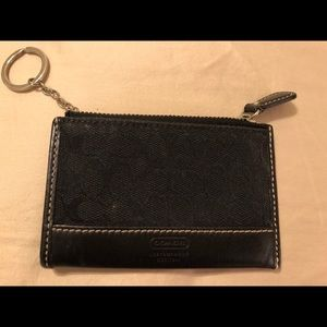 Coach Bags - COACH black Mini Skinny ID coin wallet w/ keychain